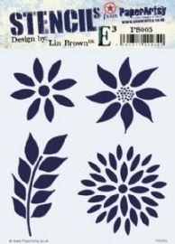 PaperArtsy E³ Stencil - Lin Brown ELB 005 - PS005